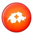 Switzerland map icon flat style vector image vector image