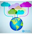 Template design Cloud and Globe idea vector image
