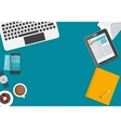 Working Place Modern Office Interior Flat Design vector image