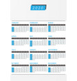 year calendar 2020 office vertical design vector image vector image