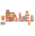 set of flat icons about shopping sale vector image