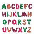 Doodle hand drawn alphabet vector image