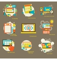 Set of flat design concept icons for web vector image