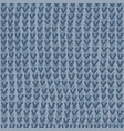 abstract blue grey knitting seamless pattern vector image vector image