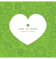 abstract green and white circles heart silhouette vector image vector image