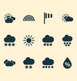 air icons set with drizzle sunny humidity and vector image vector image