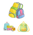 and backpack symbol set o vector image