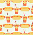appetizing hot dog seamless pattern background vector image vector image