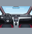 automobile black and red interior vector image