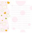 Baby Kitty Notepad Paper vector image vector image