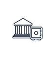 banking safe box money line image vector image