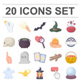 cartoon and white magic cartoon icons in set vector image vector image
