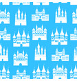 cartoon medieval old castles seamless pattern vector image vector image
