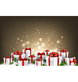 Christmas background with gifts vector image