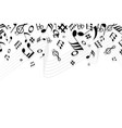 copy space conceptsilhouette music and notes icon vector image vector image