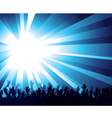 crowd and starburst vector image vector image