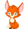 Cute baby fox vector image