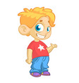 Cute funny boy cadtoon vector image