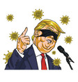 donald trump presidential campaign with covid19 19 vector image vector image