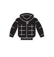 down jacket black concept icon down jacket vector image vector image
