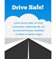 drive carefully at winter time vector image