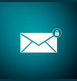 email message lock password envelope with padlock vector image vector image