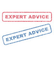 expert advice textile stamps vector image vector image