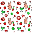 fashion fun patch stickers vector image vector image
