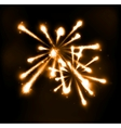 Fireworks in night sky vector image vector image