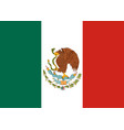 flag of mexico mexican national background vector image vector image
