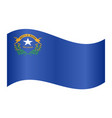 flag of nevada waving on white background vector image vector image