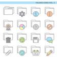 folder icons vol 2 vector image vector image