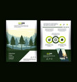 forest brochure infographic vector image vector image
