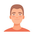 friendly smile on face a guy vector image vector image