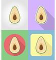 fruits flat icons 03 vector image