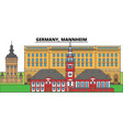 germany mannheim city skyline architecture vector image vector image