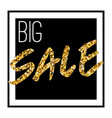gold sale background in frame yellow confetti vector image
