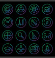 gradient rounded line icons for virtual reality vector image vector image