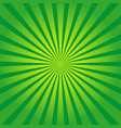 green background with yellow rays sun burst vector image vector image