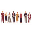 group young business people standing together vector image
