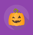 Halloween Flat Icon Pumpkin vector image