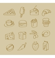 hand drawn food vector image vector image