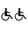 handicapped sign set in black color vector image
