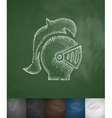 Helm knight icon Hand drawn vector image vector image
