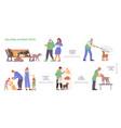 helping stray pets flowchart vector image vector image