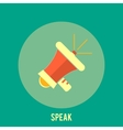 Icon of megaphone Speak concept vector image