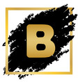letter b sign design template element vector image