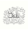 Line Style Sale Banner Isolated Design on White vector image