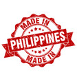made in philippines round seal vector image vector image