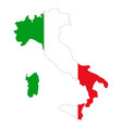map and flag italy vector image vector image
